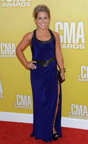 Olympic gold medalist gymnast Shawn Johnson attends the 46th annual CMA Awards at the Bridgestone Arena on November 1, 2012 in Nashville, Tennessee. Photo: Jason Kempin, Getty Images / 2012 Getty Images
