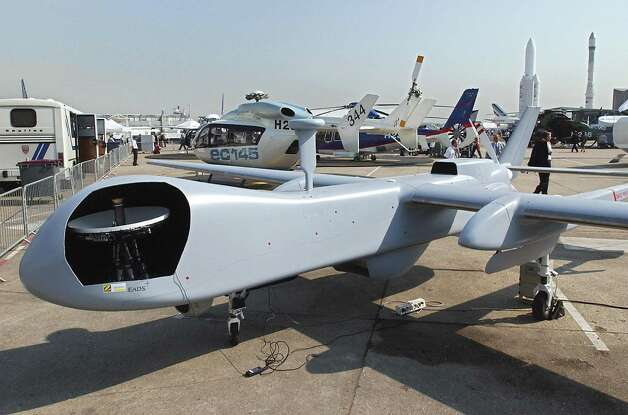 The Eagle, a drone made by European Aeronautic Defense and Space Company (EADS) is shown at the Paris Air Show on June 17. 2003. Photo: FREDERICK FLORIN, AFP/Getty Images / 2003 AFP
