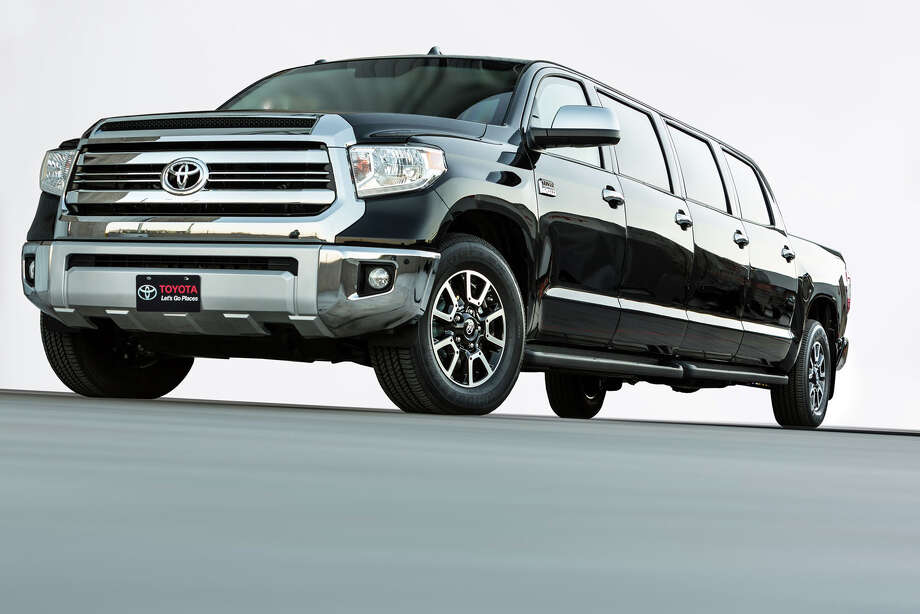 "The Toyota ""Tundrasine"" Tundra/Limousine concept truck was unveiled at the 2015 SEMA auto show. Photo: Toyota"