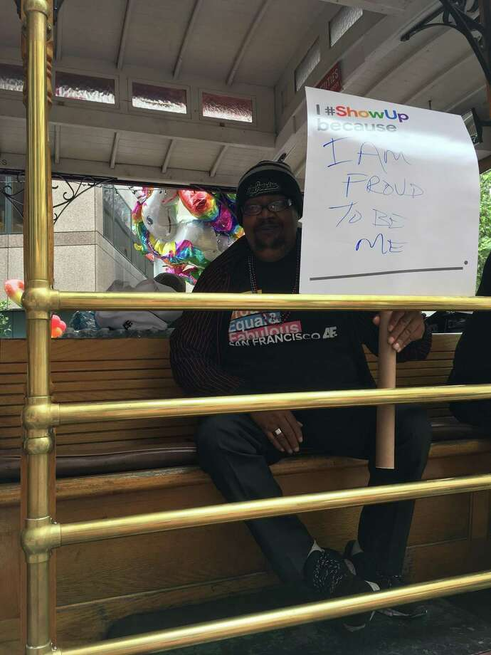 Norman Tanner was given six months to live after being diagnosed with HIV in 1990, yet he beat the prognosis and participated in Sunday's San Francisco Pride Parade. Photo: Trisha Thadani / Trisha Thadani / The Chronicle