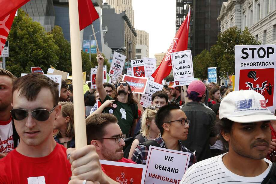 Image result for images of DACA protests in San Francisco