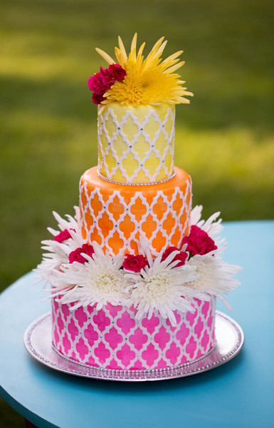 Colorful Wedding Cakes Wedding Cakes Photos By Cindys