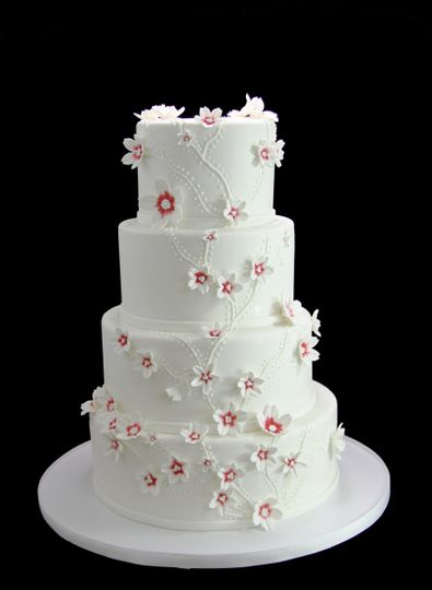 Butterfly Bakeshop   Wedding Cake   Long Island City  NY   WeddingWire     800x800 1459533905859 cascading custom flowers wedding cake