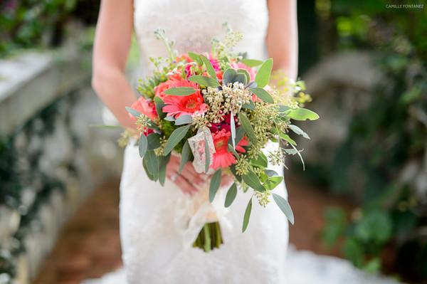 Beach Bouquet Caribbean Daisy Greenery Wedding Flowers