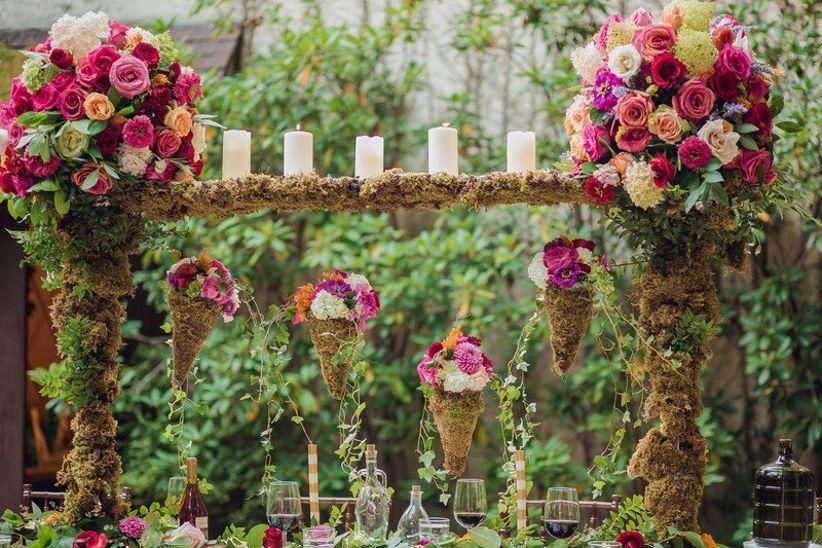 романтический сад свадебный альбом идея с мхом и цветочный центр