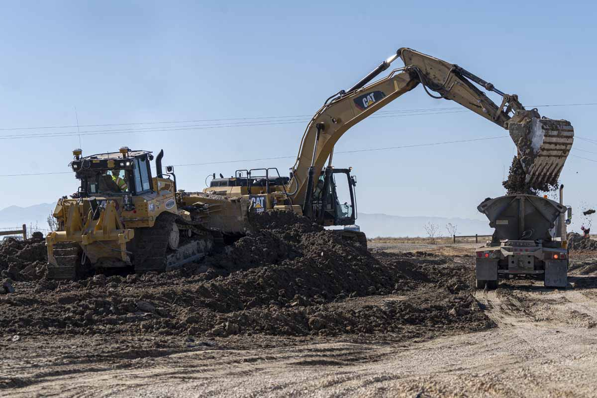 Utah Prison Offsite Utility Construction clearing overburden