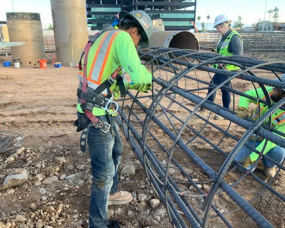 Arizona State University Job Site building rebar cage