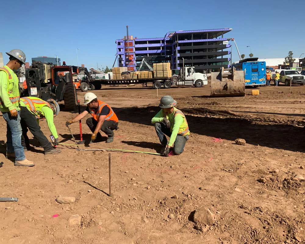 Arizona State University Job Site survey team