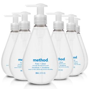 Method Free + Clear Gel Hand Wash, fragrance free hand soap, unscented