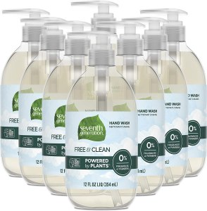 Seventh Generation Free & Clean Hand Wash, best fragrance free hand soap, unscented