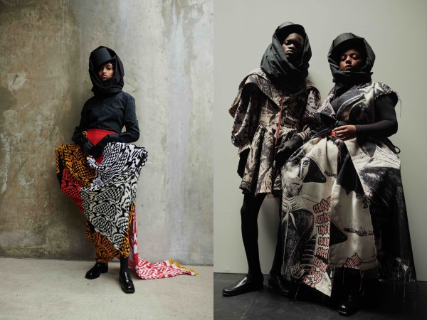 Looks from Matty Bovan merino wool collection
