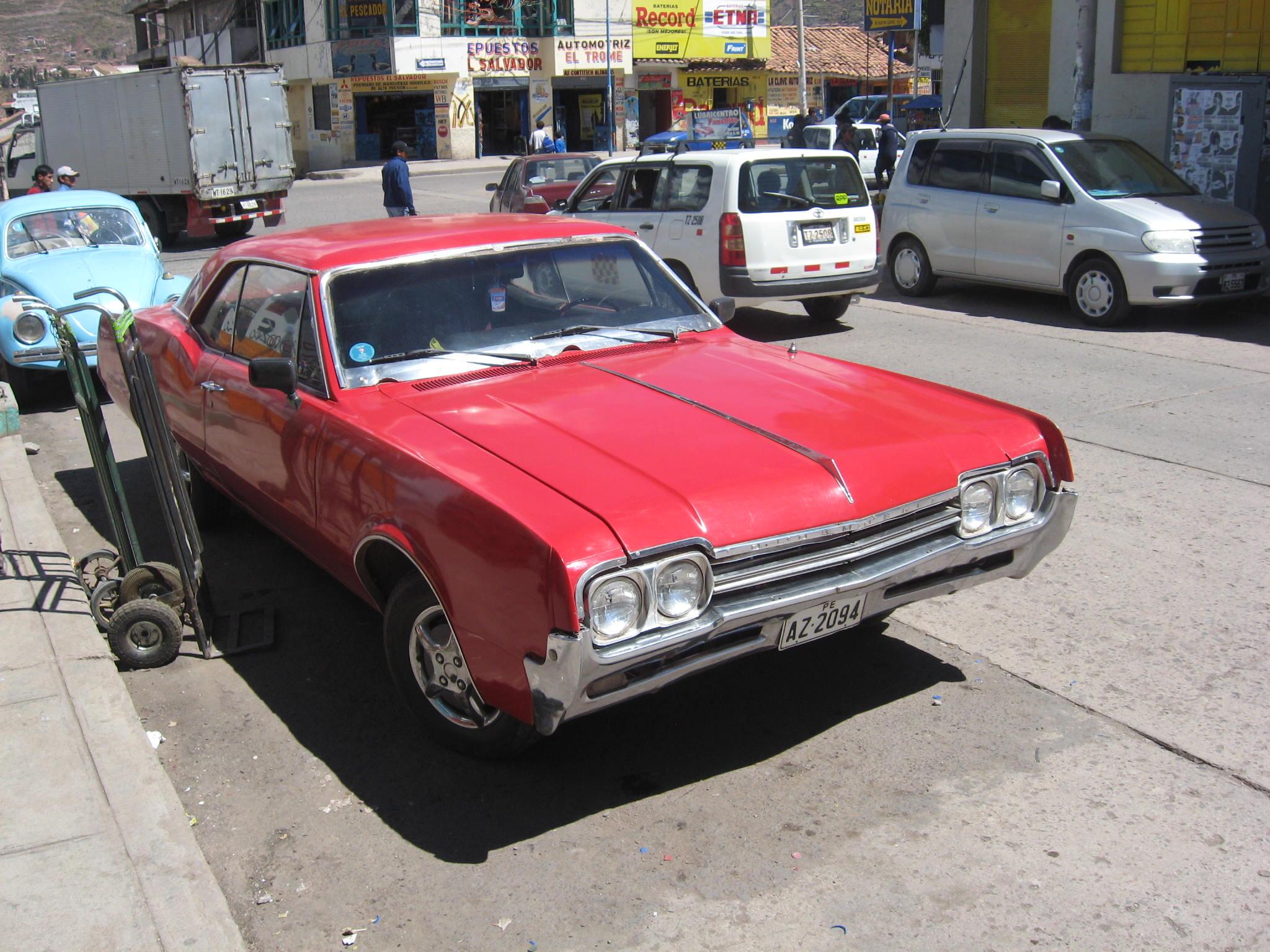 US made car in Cusco, Peru