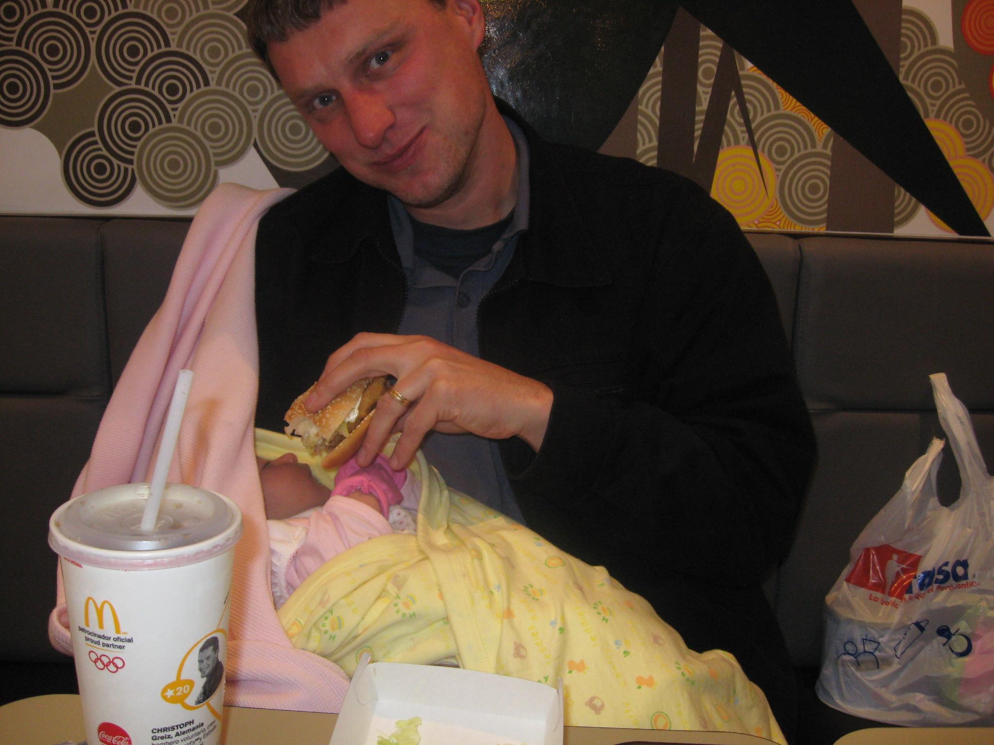 At McDonald's in Cusco