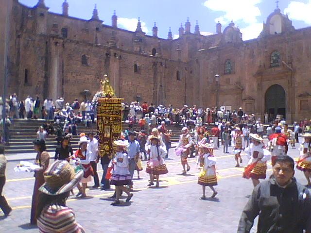 Parade at the Plaza de Armas