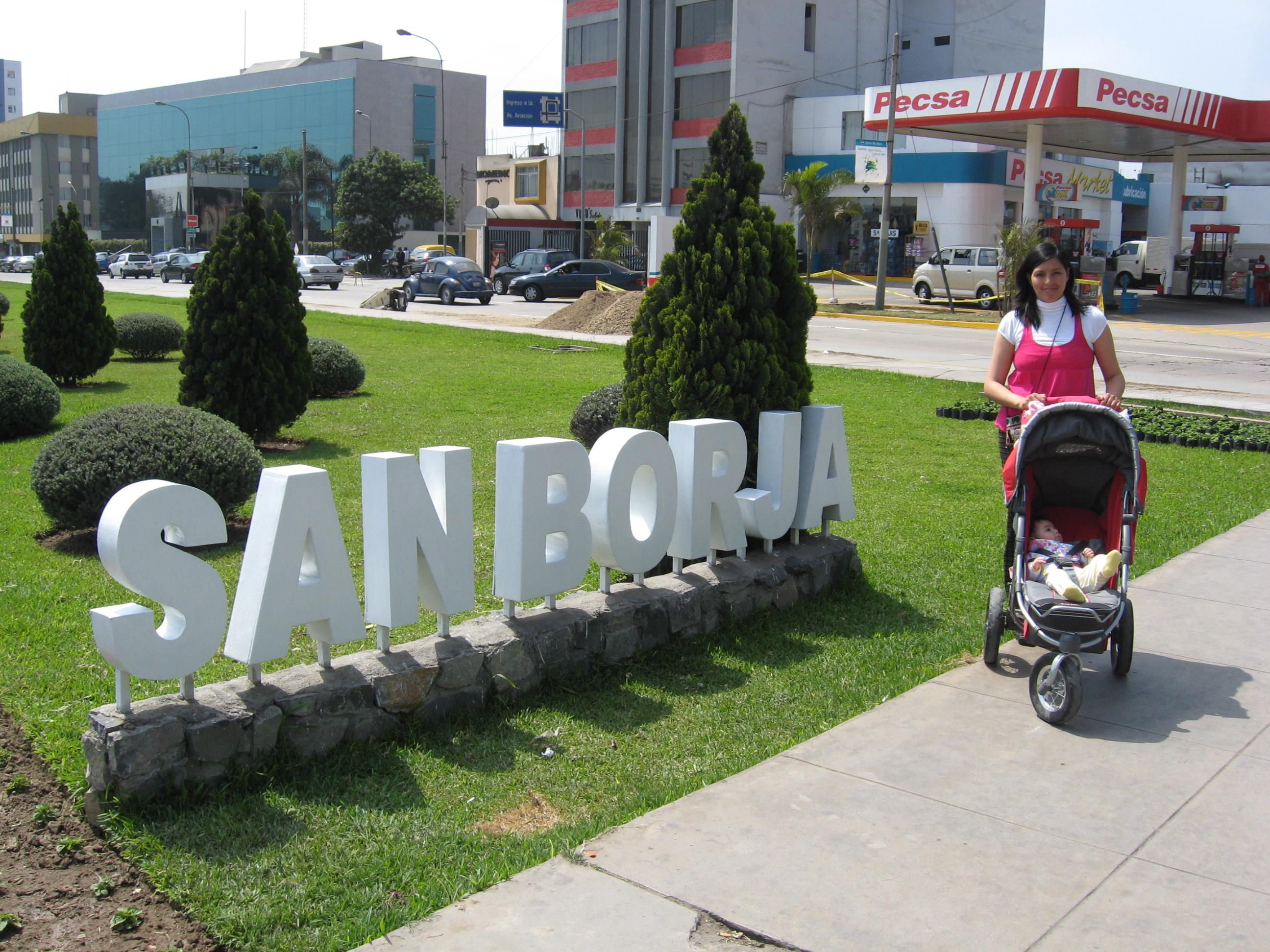 Av. San Borja Norte, a nice area of Lima