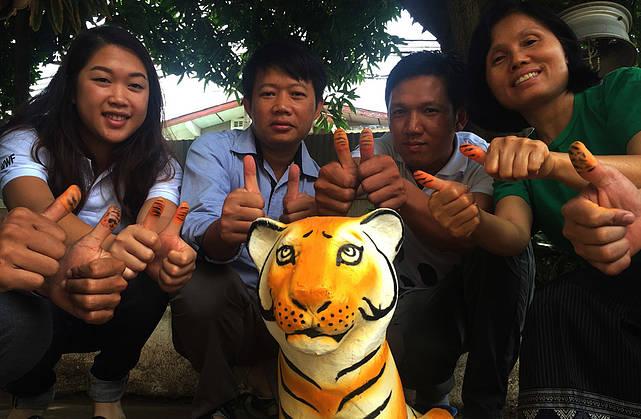TAIWAN  #ThumbsUpForTigers under International Tiger Day