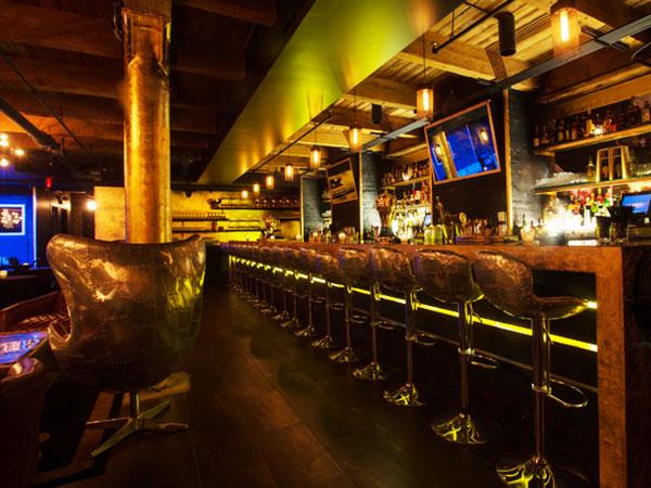 vintage industrial bar and restaurant