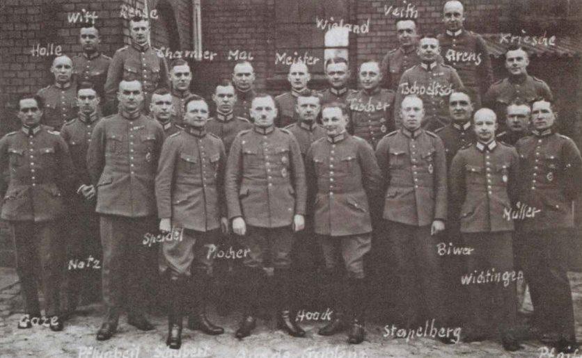 Выпуск 1928 года немецких летчиков-наблюдателей.
