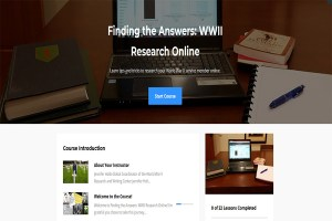 Finding the Answers: WWII Research Online