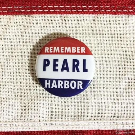WWII Remember Pearl Harbor Pin, WW2