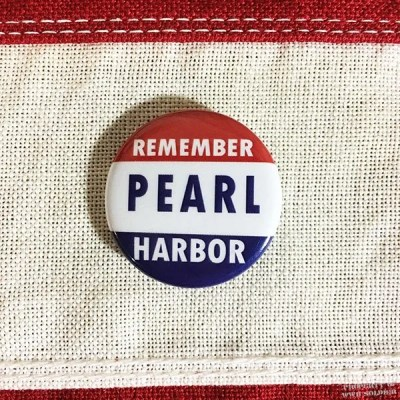 WWII Remember Pearl Harbor Pin, WW2