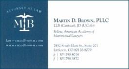Brown, Martin - Bus Card