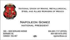 Gomez, Urrutia Napoleon - Bcard