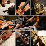 music-orchestra-collage