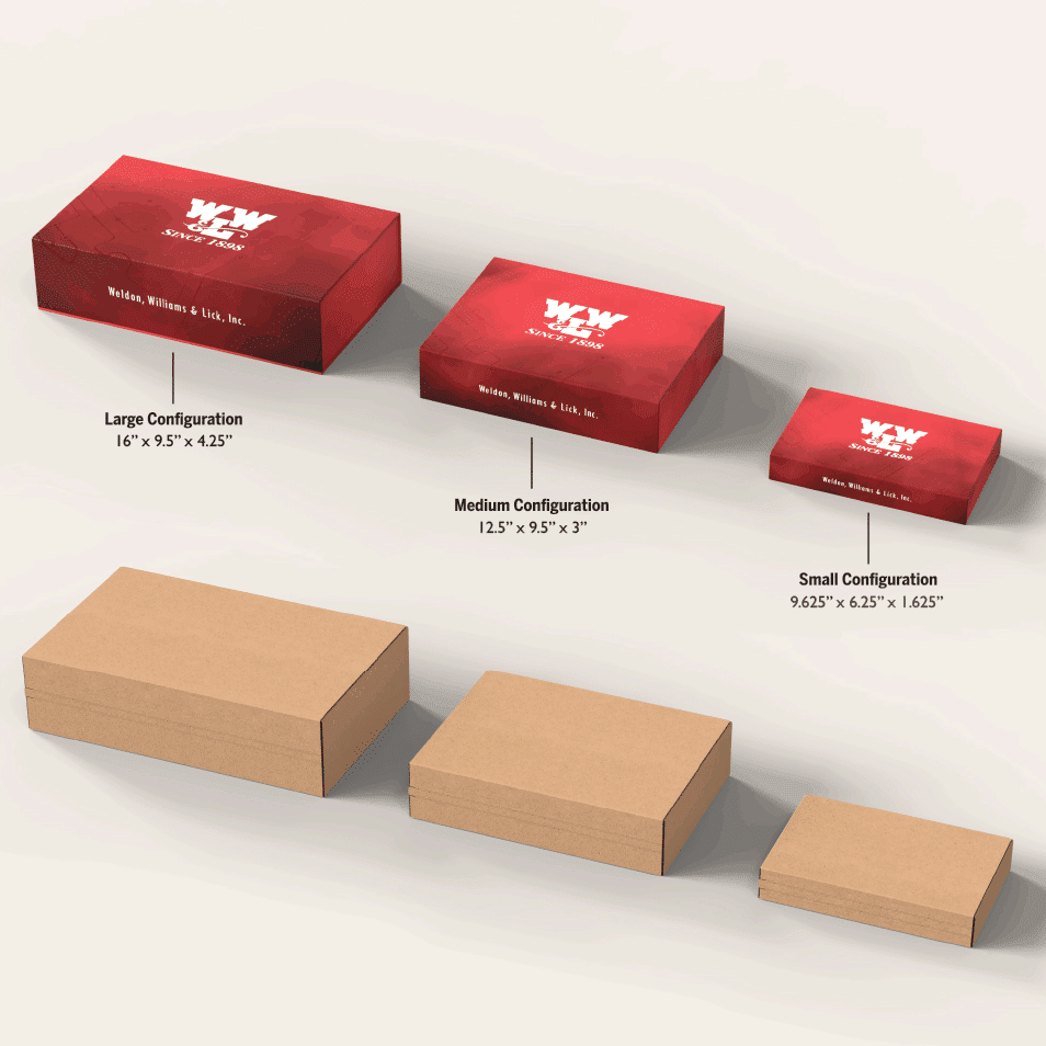 Promotional packages different sizes for customization