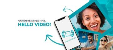 Hello Video card is a traditional greeting card that uses video technology