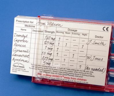 Dosett Maxi Prescription Cards