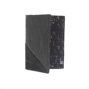 Delia Piñatex Passport Cover Black