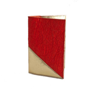 Delia Piñatex Passport Cover Paprika