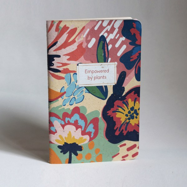 Recycled big banana leaf notebooks flowery