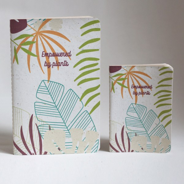Recycled banana leaf notebooks tropical