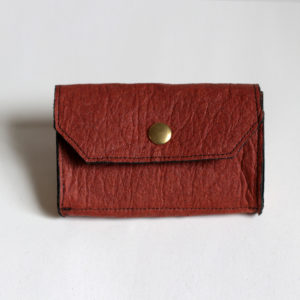 Wallet Phulan Brown Cinnamon and Gold made in France without leather