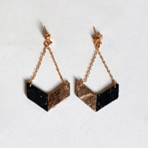 Victory Piñatex Earrings Cork & Gold