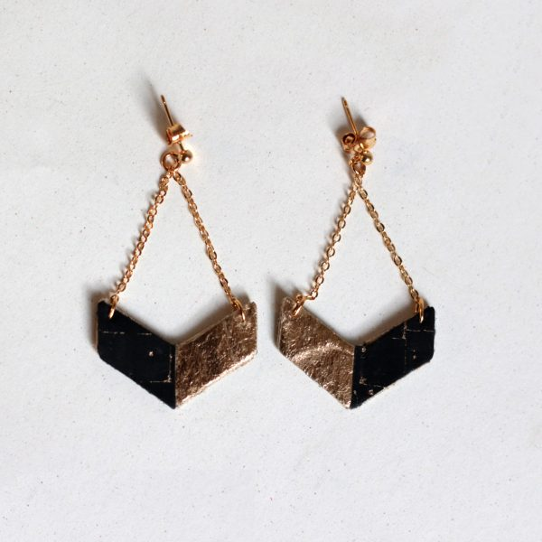 Victory earrings Cork Gold