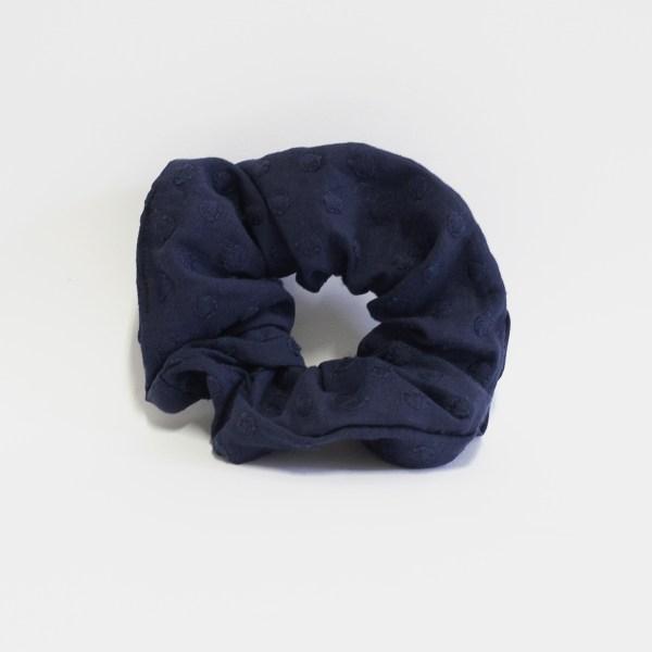 Chouchou Upcyclé Bleu Coton Bio