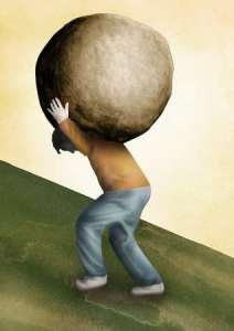 carrying boulder