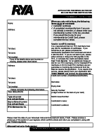 Powerboat Instructor re-validation form