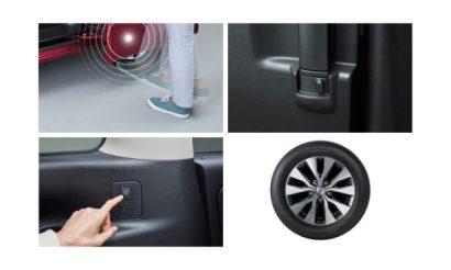 ハンズフリーオートスライドドア〈両側〉+サードシート用助手席側オートスライドドアスイッチ+全ドア連動ロック機能+ドアストップ機能+195/60R16 89Hタイヤ&16インチアルミホイール