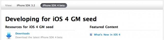iOS 4 GM Candidate