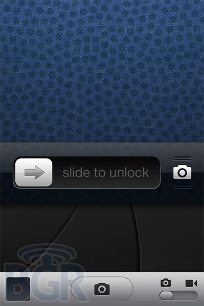 iOS 5.1 modifica lockscreen pulsante fotocamera