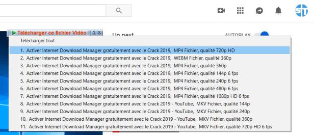 Telecharger Video YouTube 720p MP4 - Télécharger Une Vidéo YouTube Gratuit en ligne – Tutoriel IDM en français