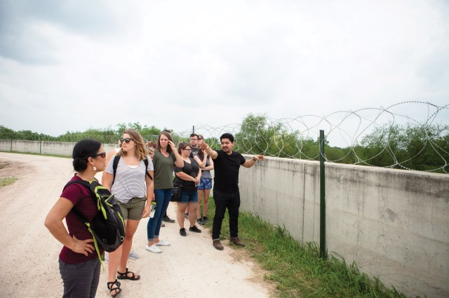 Yonathan Moya, right, began leading Christian groups on educational trips along the Texas-Mexico border after he and his brother traveled there in 2017 to rediscover the region where they grew up.
