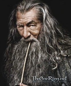 Ian McKellen as Gandalf the Grey in The Hobbit Movies