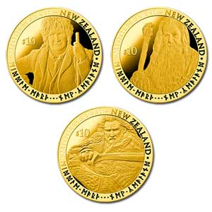 New Zealand Post's hobbit coins