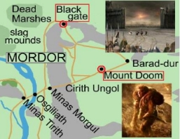 map Battle of Morannon and Mt Doom March 25