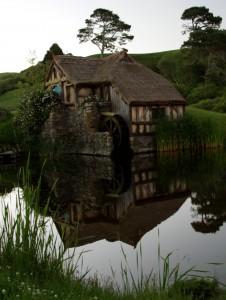 The mill at Hobbiton Movie Set